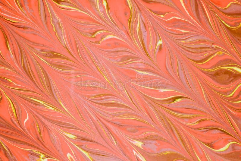 Ciecz akrylowy Rzadkop?ynny sztuka koloru kleks zdjęcie royalty free