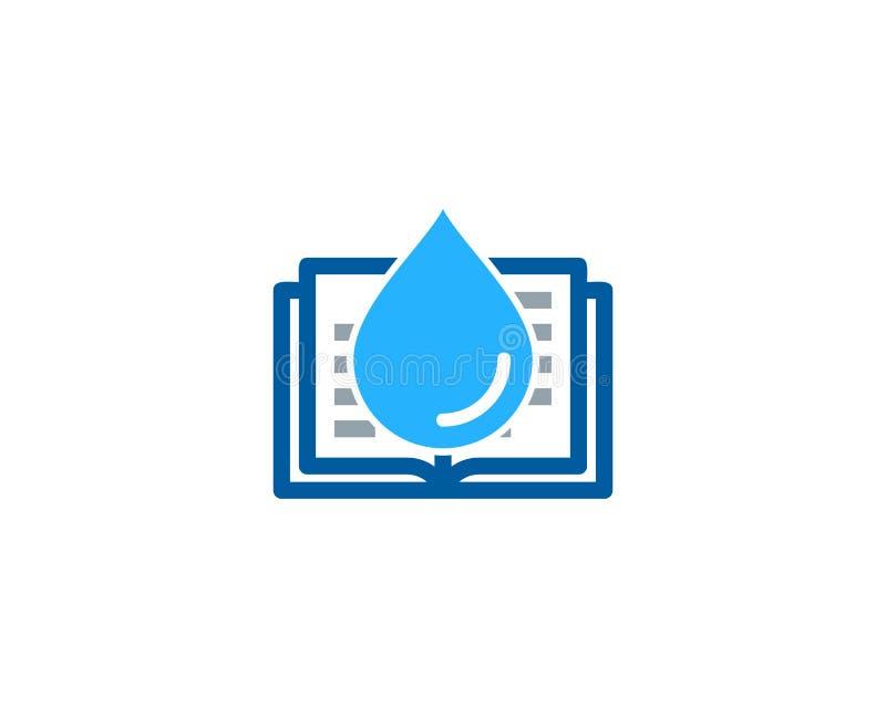 Ciecza loga ikony Książkowy projekt ilustracja wektor