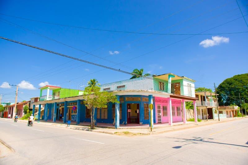 CIEGO DE AVILA, CUBA - SEPTEMBER 5, 2015: Downtown stock photo