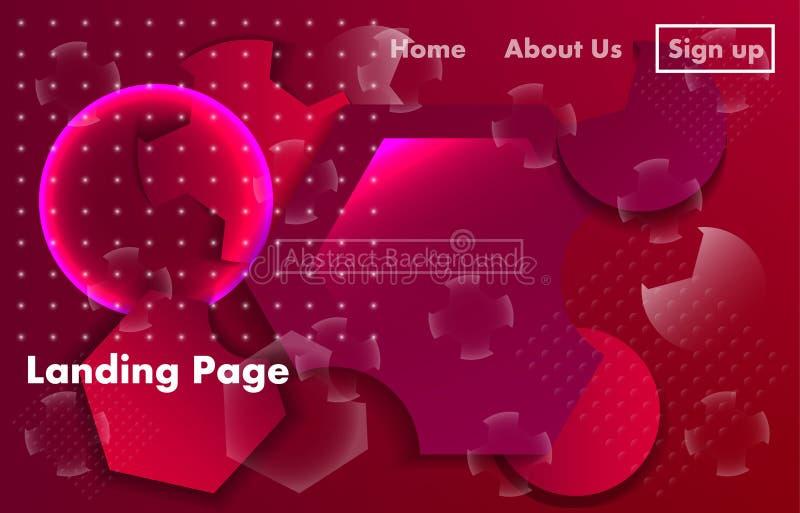 Ciekły dynamiczny tło dla biznesowej prezentacji, lądujący strony lub plakaty ilustracja wektor