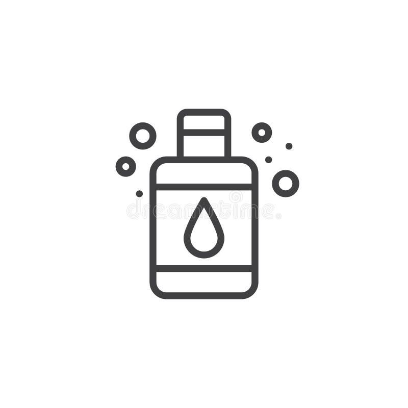 Ciekłego mydła butelki konturu ikona ilustracji