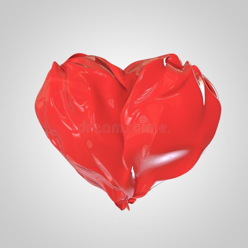 Ciekły Czerwony serce royalty ilustracja