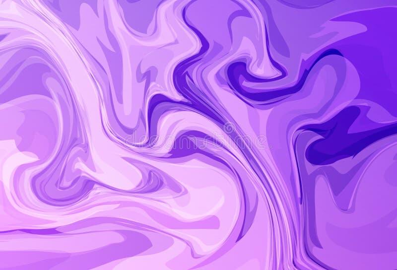 Ciekły falowanie, pozafioletowy marmuru pojęcie textured abstrakta bac ilustracja wektor