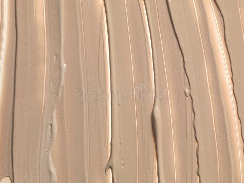 ciekły kosmetyczny fundacyjny tekstury clouse w górę 2 obraz royalty free