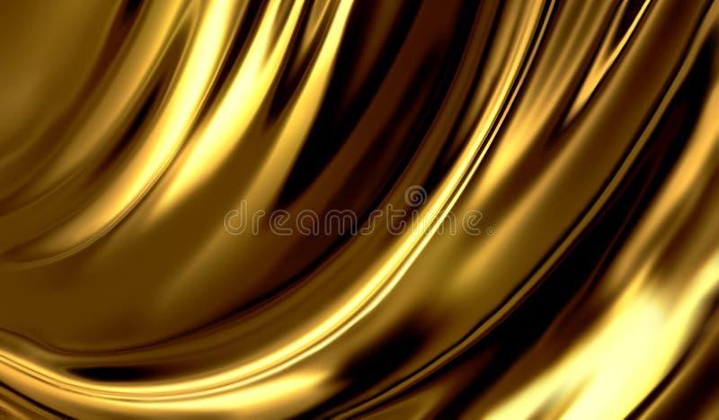 Ciekły złoto ilustracji