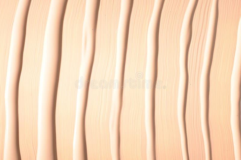 Ciek?a fundacyjna tekstura Uzupe?nia dla kobiet Odg?rny widok zdjęcie stock