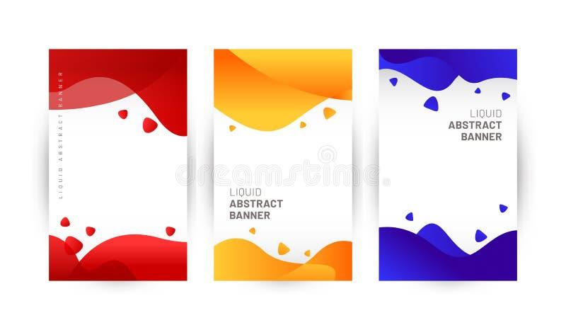 Ciek?y abstrakcjonistyczny sztandaru t?a projekt ilustracji