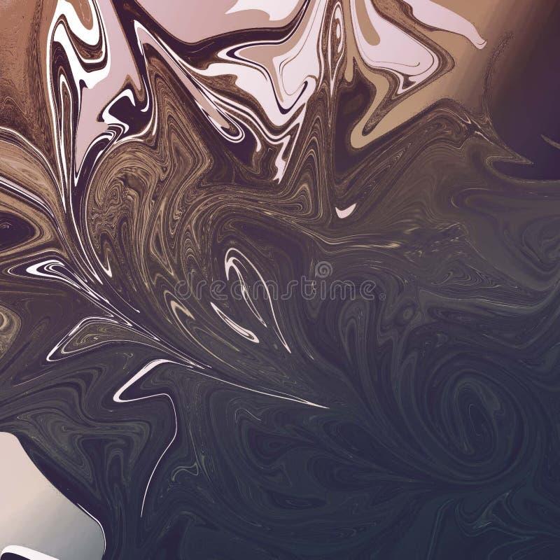 ciek?y abstrakcjonistyczny t?o z obraz olejny smugami royalty ilustracja