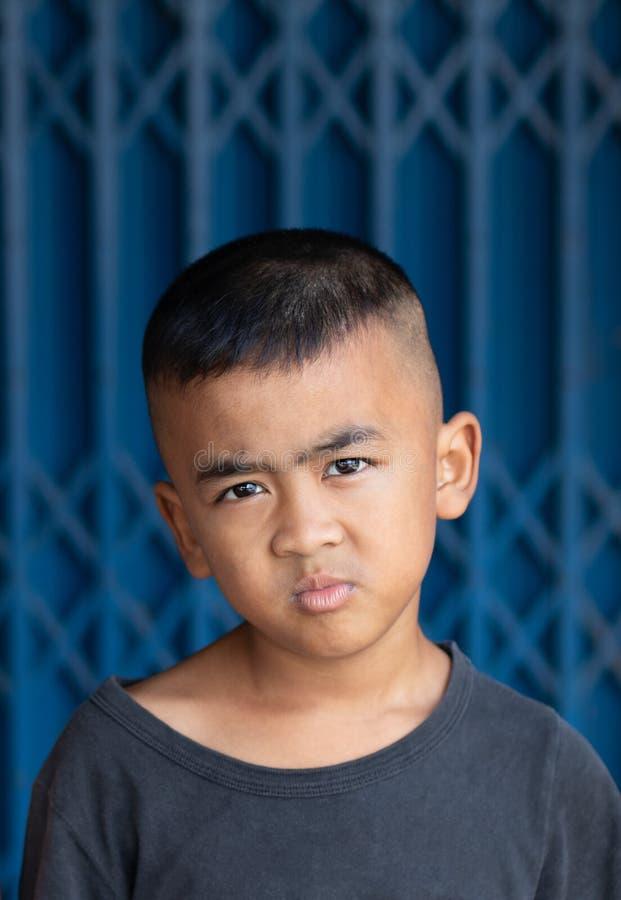 Ciekawa chłopiec twarz zdjęcie stock