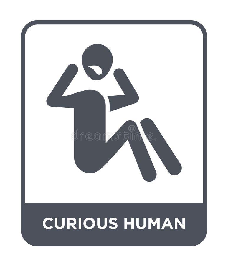 ciekawa ludzka ikona w modnym projekta stylu ciekawa ludzka ikona odizolowywająca na białym tle ciekawa ludzka wektorowa ikona pr ilustracja wektor
