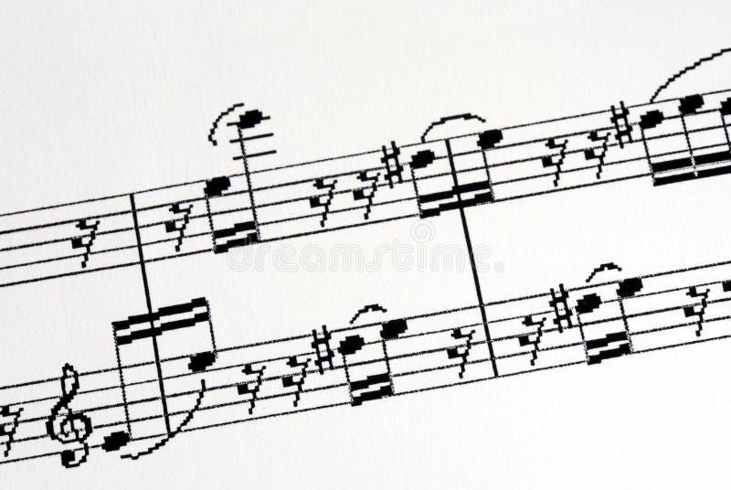 ciekawa muzyka zauważa niektóre obraz royalty free