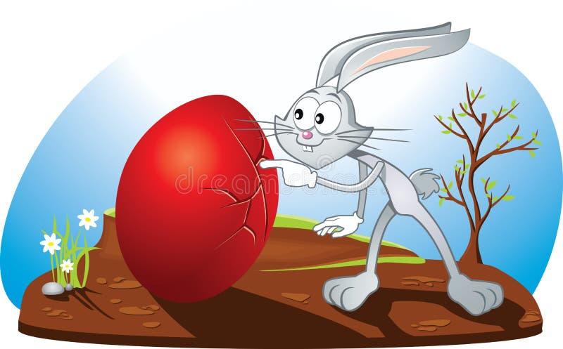 Ciekawa Wielkanocnego królika wektoru kreskówka ilustracja wektor