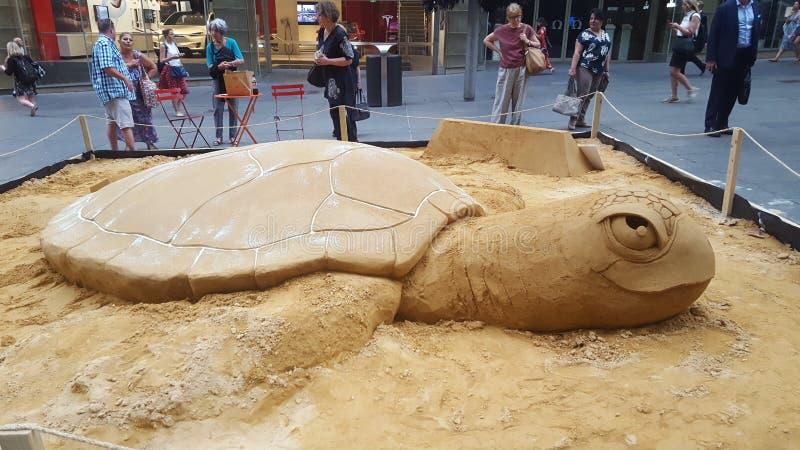 Ciekawego piaska sztuki modelarska praca w Martin miejscu, Sydney, Australia obraz stock