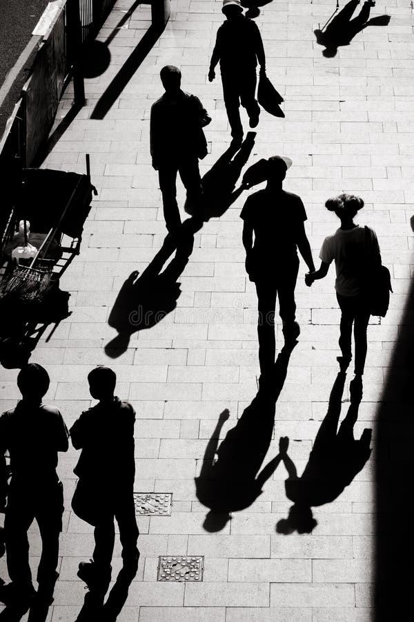 Ciekawy światło i cień życie codzienne na ulicie Hong Kong zdjęcie royalty free
