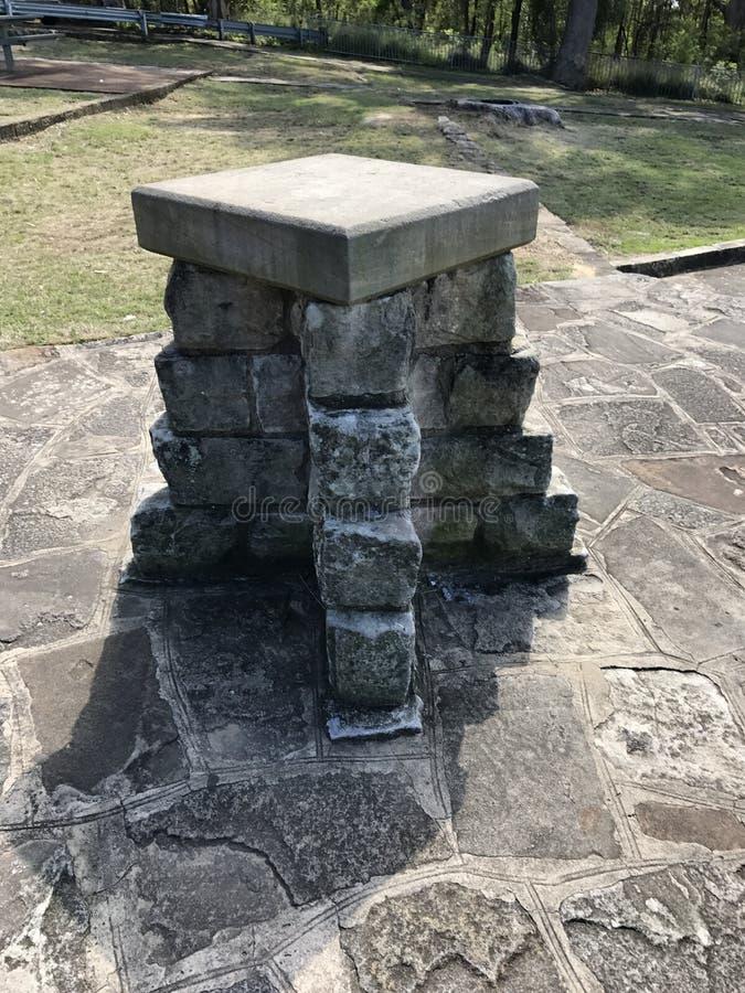 Ciekawy kamienny zabytek obraz royalty free
