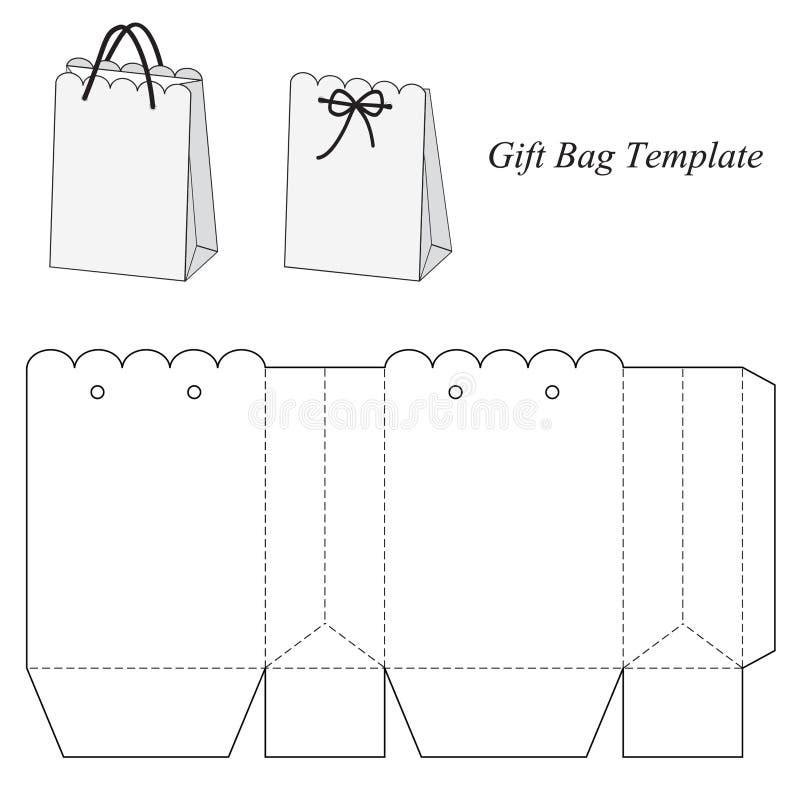 Ciekawy prezent torby szablon ilustracja wektor