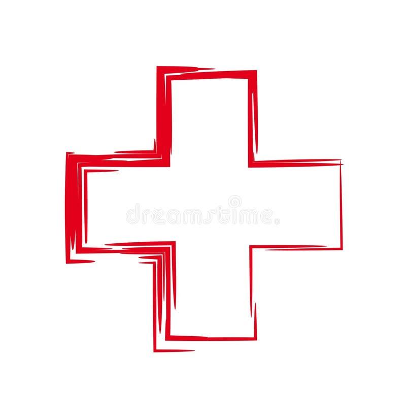Czerwony Krzyż ilustracji