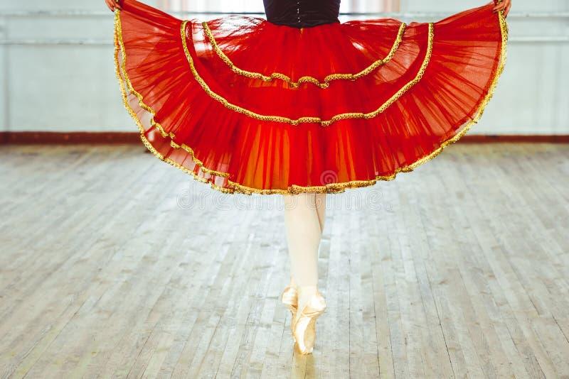 Cieki balerina w pozie zdjęcia royalty free