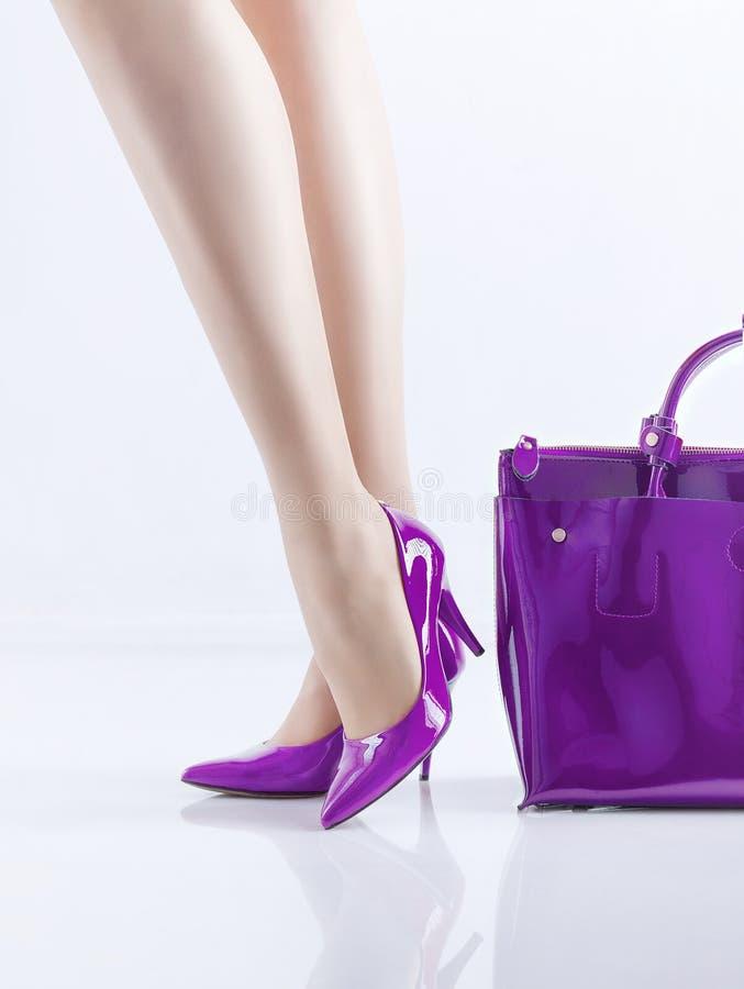 cieki kobieta butów zdjęcie royalty free