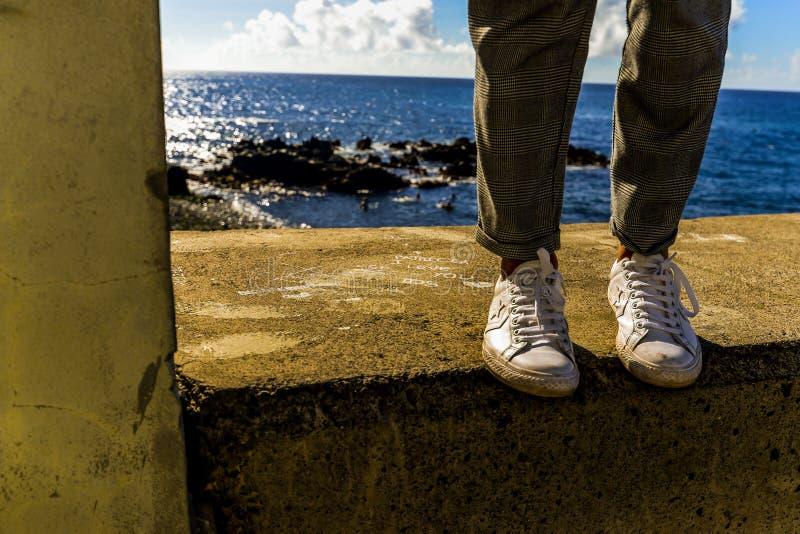 Cieki obok oceanu fotografia royalty free