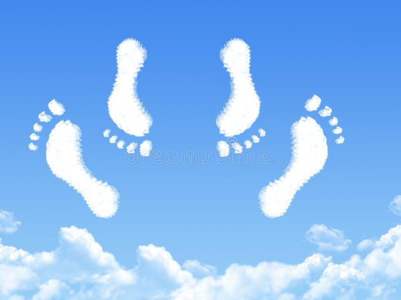 Cieki para ma płci chmury kształt royalty ilustracja