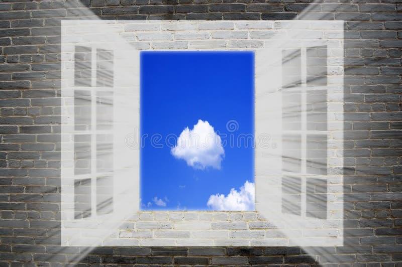 ciel à l'hublot photo stock