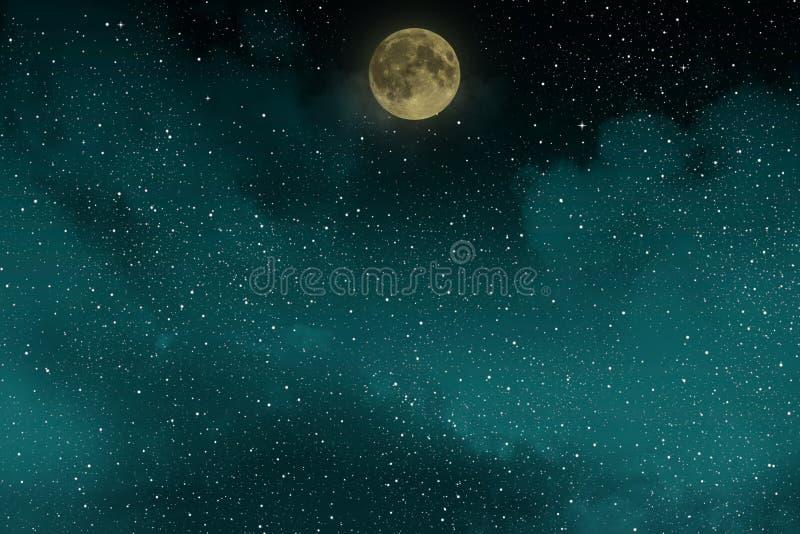 ciel toil de belle nuit bleue avec la pleine lune et les nuages photo stock image 80561727. Black Bedroom Furniture Sets. Home Design Ideas