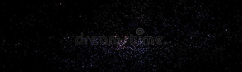 Ciel étoilé de constellation de manière laiteuse Le vecteur tient le premier rôle le fond illustration stock