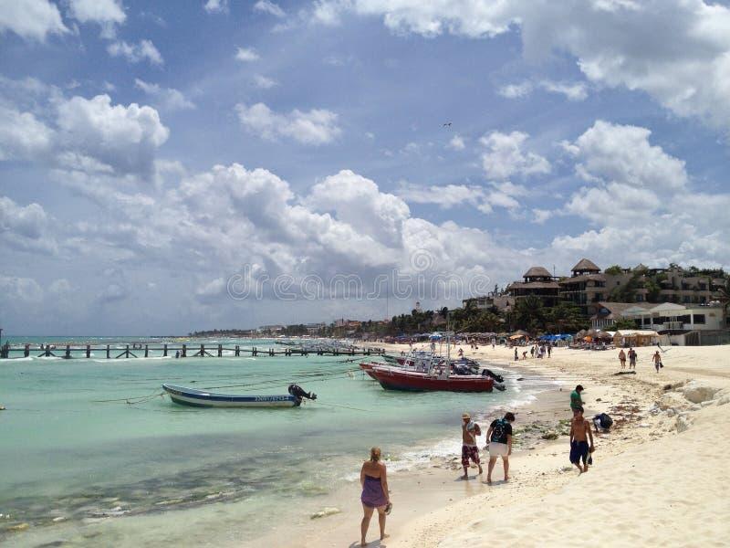 Ciel étonnant dans le Playa del Carmen photo libre de droits