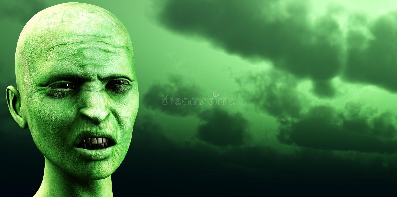 Ciel 3 de zombi illustration stock