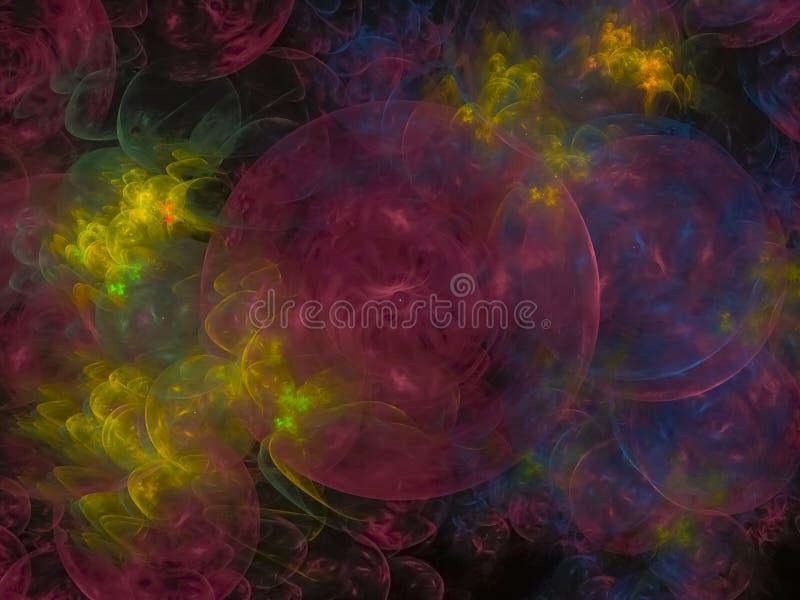 Ciel abstrait de fond de fractale, modèle d'illustration de boule créatif, modèle, illustration illustration libre de droits