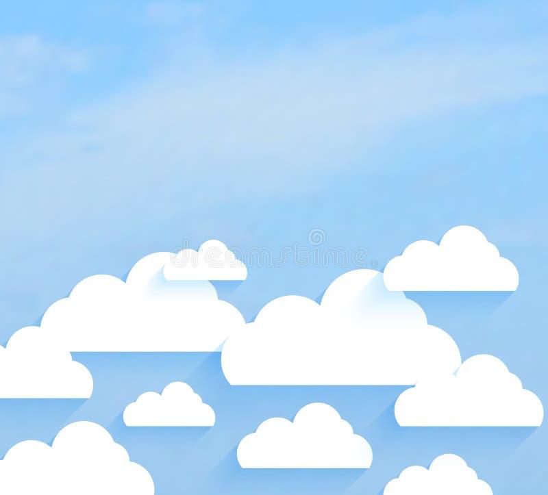 Ciel avec des nuages illustration de vecteur
