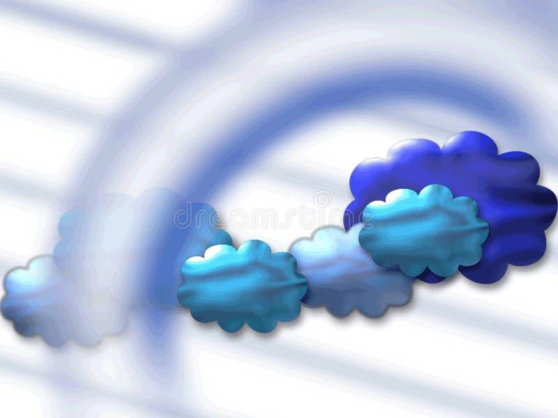 Ciel bleu illustration de vecteur