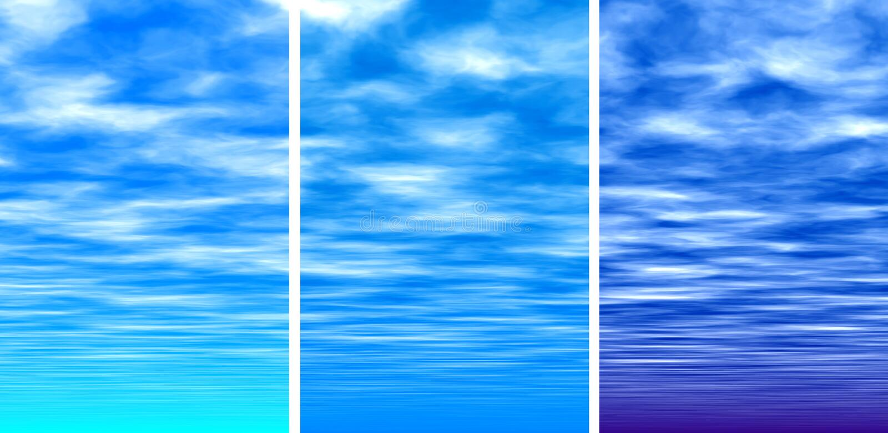 Download Ciel bleu illustration stock. Illustration du matin, pourpré - 733582