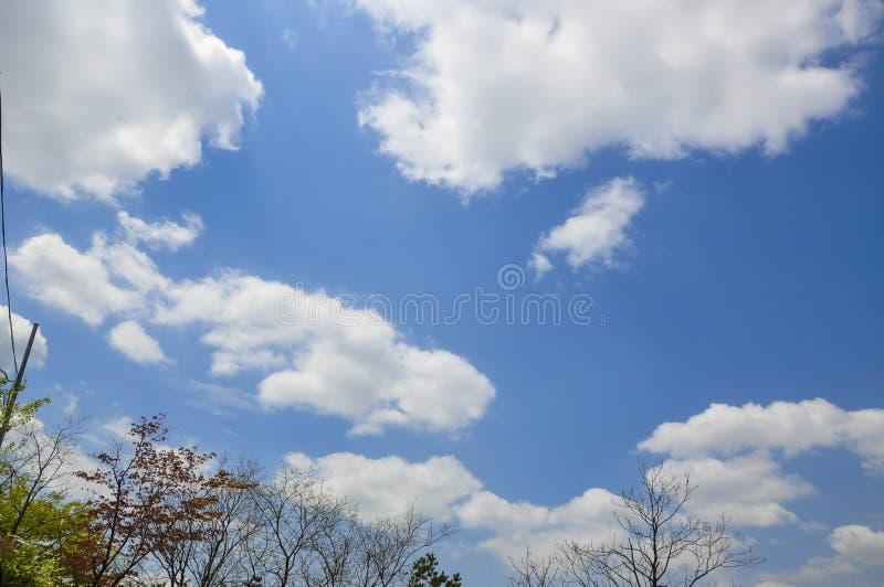 Ciel bleu avec le cloudscape dans le jour ensoleillé photo stock