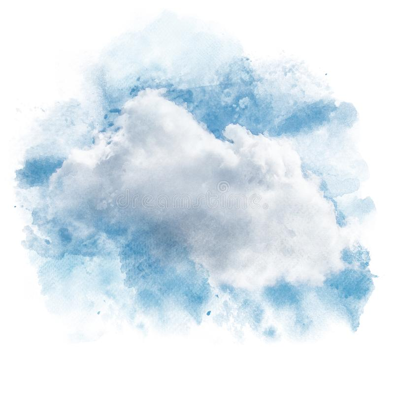 Ciel bleu avec le nuage blanc photos stock