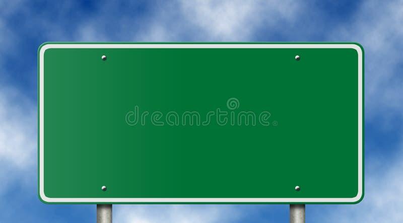 ciel bleu blanc de signe d'autoroute images libres de droits
