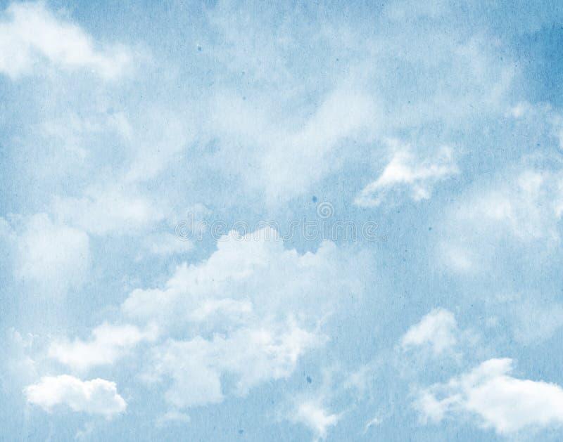 Ciel bleu et nuages images stock