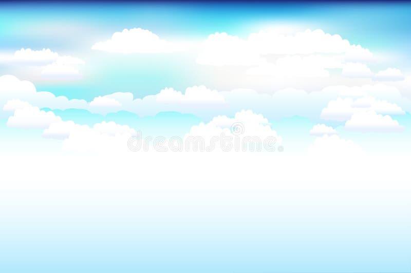 Ciel bleu et nuages. Vecteur   illustration de vecteur