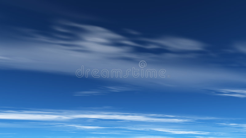 Ciel bleu profond illustration stock