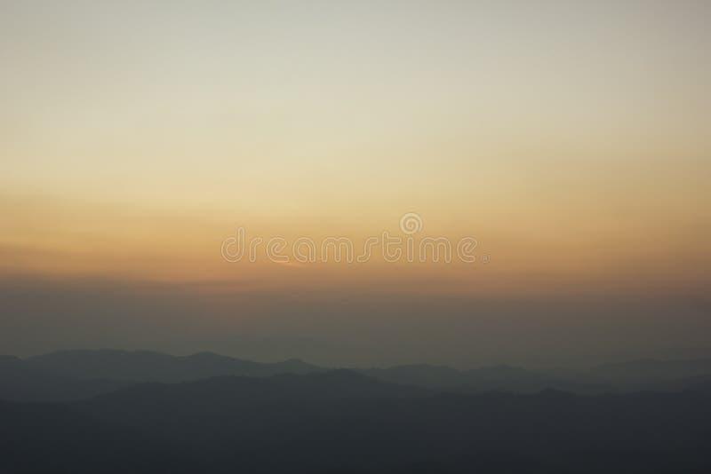 Ciel comme coucher du soleil photographie stock