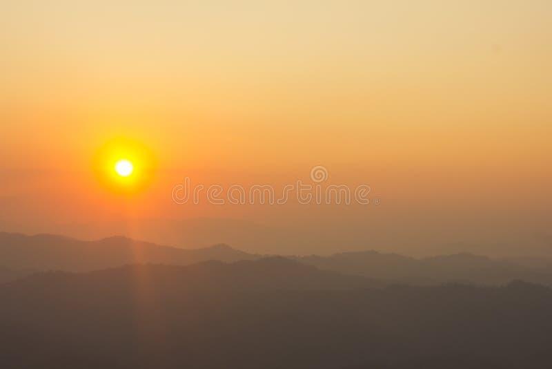 Ciel comme coucher du soleil photographie stock libre de droits