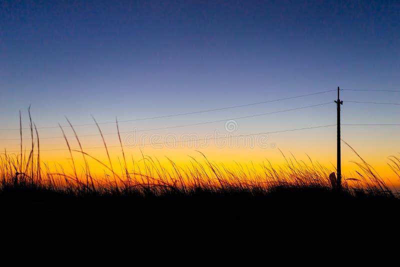 Ciel crépusculaire coloré photo libre de droits