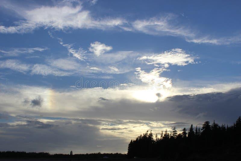 ciel d'été image stock