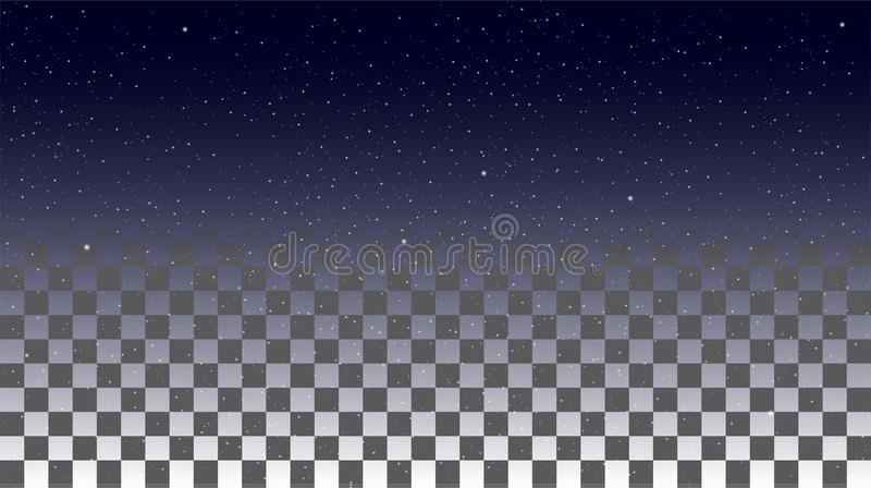 Ciel d'étoile sur un fond transparent illustration stock