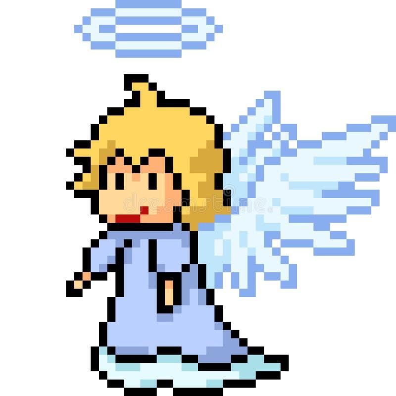 Ciel d'ange d'art de pixel de vecteur illustration libre de droits