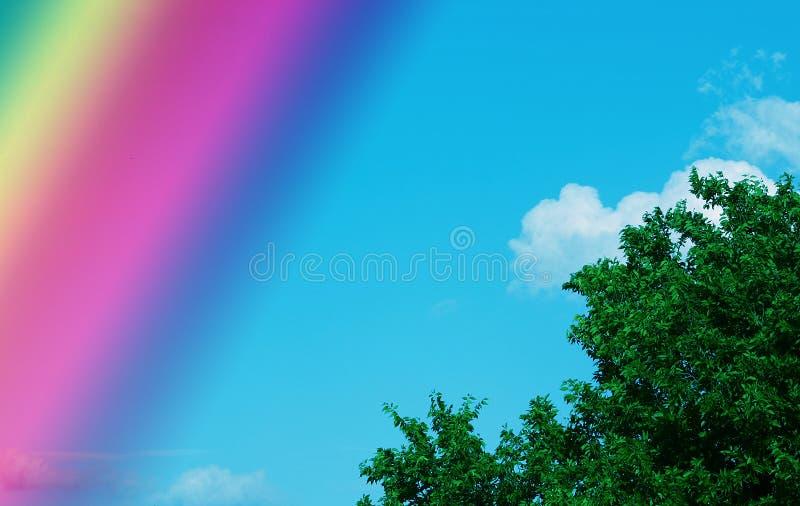 Ciel d'arc-en-ciel photo stock