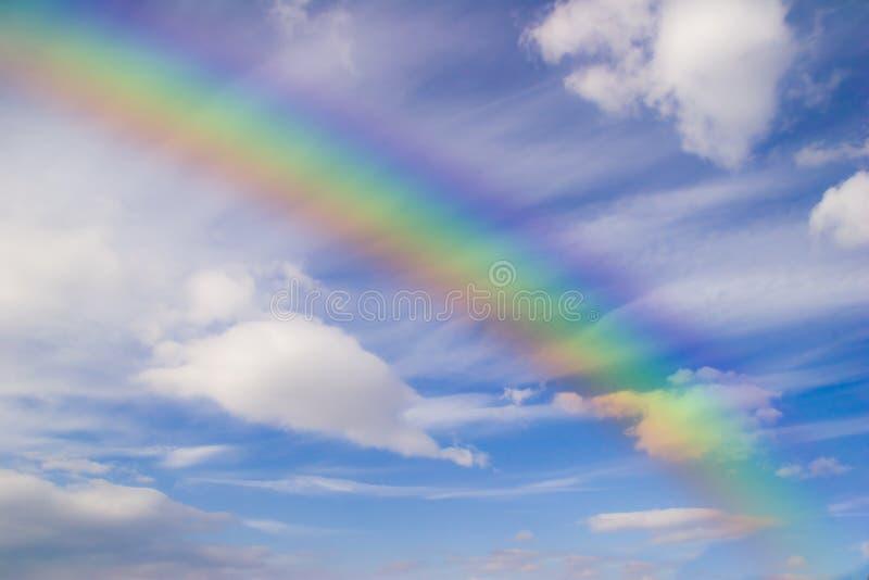 ciel d'arc-en-ciel image libre de droits