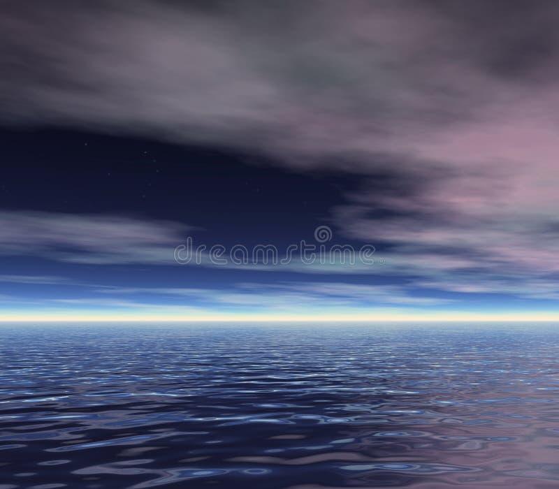 Ciel d'aube illustration libre de droits