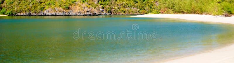 Ciel de côte de mer de Langkawi photographie stock libre de droits